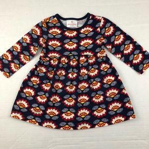 Hanna navy floral dress
